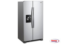 75607 | Whirpool Refrigeador 21' Stainless Steel Side by Side