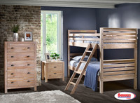 961924 Rustic Drift Bunk Bed Twin | Twin
