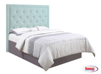 63281 Aria Light Blue Headboard Queen
