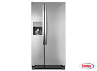 "60393 Whirpool 33"" Wide Side-by-Side Refrigerator with LED Lighting - 21 cu. ft."