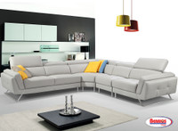 2516 Daniel Light Grey Sectional Living Room