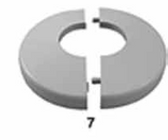 CUSTOM MOLDED PRODUCTS | CLIP ON, GRAY PLASTIC, 1.9 | 25572-201-000