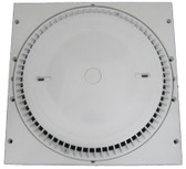 AFRAS | 12 X 12 RINGPLATE AND HIGH CAPACITY COVER REPLACES MOST 12 X 12 FRAMES -GPM FLOOR 188/WALL 160 - WHITE  | 10064ACVGB