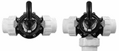 CUSTOM MOLDED PRODUCTS | COMPLETE BLACK CPVC VALVE WITH UNIONS, 3-WAY, 2 SLIP | 25923-204-000