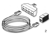 BALBOA  | 50' SPASIDE EXTENSION CORD FOR 8 PIN PHONE PLUG INCLUDES ADAPTERS (4TO 1) | 22633