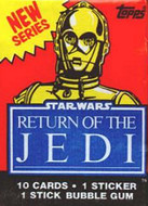 1983 Topps Return of the Jedi Series 2 Wrapper Set (4)