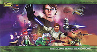 2009 Topps Star Wars Clone Wars Widevision Set + 3 Chase Sets (103)