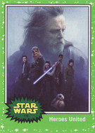 2017 Topps Star Wars Journey to The Last Jedi Green Parallel Set (110)