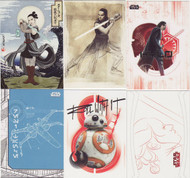 2017 Topps Star Wars  The Last Jedi Set + 6 Chase Sets (146)