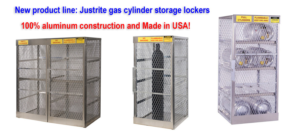 Justrite cylinder cabinets now available