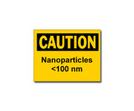 Caution Nanoparticles <100 nm Label