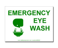Emergency Eye Wash Sign/Label