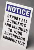 Accident/Injury Reporting Sign