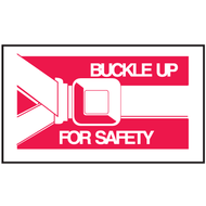 Mini Instructional Label - Buckle Up For Safety w/ Graphic, 10/Pkg