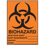 Biohazard Sign w/ Fill-In Blanks