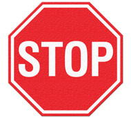Anti-Slip Safety Floor Markers, STOP sign graphic