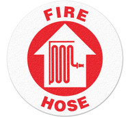 Anti-Slip Safety Floor Markers, Fire Hose w/Graphic