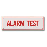 "Alarm Test Aluminum Sprinkler Identification Sign, 6""w x 2""h"