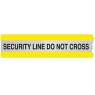 Reflective Barricade Tape, SECURITY LINE DO NOT CROSS