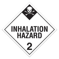 DOT Hazardous Material Placards, Class 2.3, Inhalation Hazard (Toxic Gases)