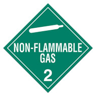 DOT Hazardous Material Placards, Class 2, Non-Flammable Gas