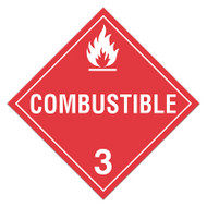 DOT Hazardous Material Placards, Class 3, Combustible Liquids