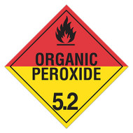 DOT Hazardous Material Placards, Class 5.2, Organic Peroxide