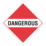 DOT Hazardous Material Placards, Dangerous, For Mixed Loads