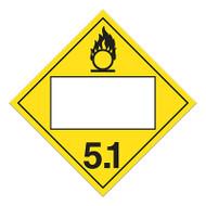 4 Digit Blank DOT Placards, Class 5, Oxidizer