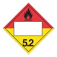 4 Digit Blank DOT Placards, Class 5, Organic Peroxide