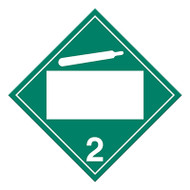 4 Digit Blank DOT Placards, Class 2, Non-Flammable Gas