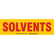 Solvents Cabinet Label