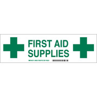First Aid Supplies Cabinet Label
