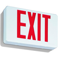 Lithonia LED Red Exit Sign w/ Battery Backup