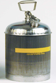 Eagle Type I Stainless Steel Safety Can 5 gallon