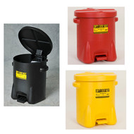 Eagle Oily Waste Safety Cans, 14 gallon