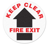 Anti-Slip Safety Floor Markers, Keep Clear, Fire Exit w/arrow