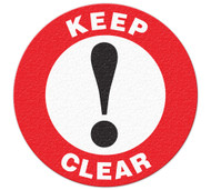 Anti-Slip Safety Floor Markers, Keep Clear
