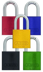 "Aluminum Padlocks For Lockout-Tagout, 1.5"" and 3"" Shackles, Assorted Colors"