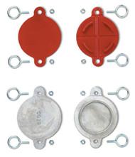 "2.5"" Aluminum FDC and Hydrant Break Caps, Set/2"