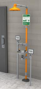 Guardian GFR1902 Freeze-Resistant Safety Station with Eyewash, Plastic Shower Head