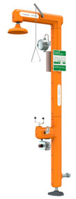 Guardian GFR3210 Heated Safety Station with Eyewash, Bottom Inlet, Rated for Class I, Division 1 Environment