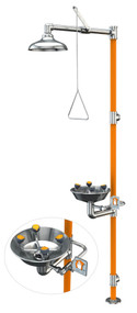 Guardian G1994 Series Safety Stations with WideArea™ Eye/Face Wash, All-Stainless Steel Construction