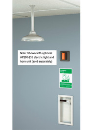 Guardian GBF1670 Recessed Emergency Shower, Exposed Shower Head