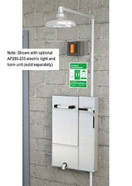 Guardian GBF2173 Recessed Safety Station with Drain Pan, Surface Mounted