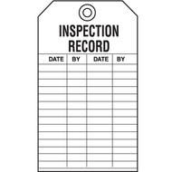 Inspection Record Tags, 5/pkg