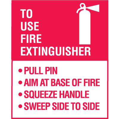 P A S S Fire Extinguisher Decal 5 Pkg Safety Emporium