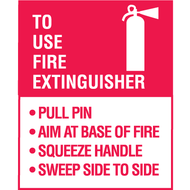P.A.S.S. Fire Extinguisher Decal, 5/pkg
