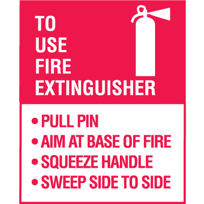 p a s s fire extinguisher decal 5 pkg safety emporium