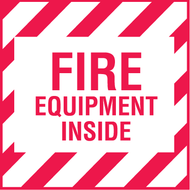 Fire Equipment Inside Decal, 5/pkg